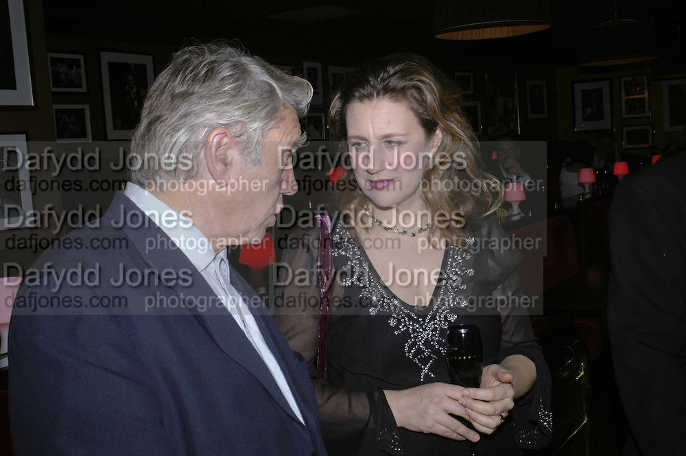 Don McCullin and Princess Katya Galitzine, Bazaar and Moet  Black, White and Gold party. Ronnie Scott's. Frith St. London. 16 november 2006. ONE TIME USE ONLY - DO NOT ARCHIVE  © Copyright Photograph by Dafydd Jones 66 Stockwell Park Rd. London SW9 0DA Tel 020 7733 0108 www.dafjones.com