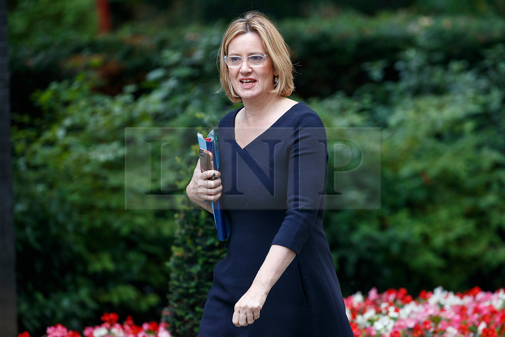 © Licensed to London News Pictures. 18/07/2017. Home Secretary AMBER RUDD attends a cabinet meeting in Downing Street, London on Tuesday, 18 July 2017 London, UK. Photo credit: Tolga Akmen/LNP
