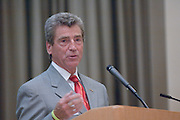 "18174Sales Celebration and Awards Ceremony, April 19, 2007. Walter Hall Rotunda...Mr. Tom Starr presenting Grand""Starr"" Award Drawing"