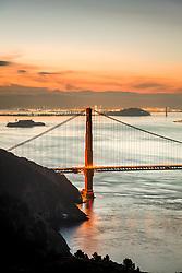 """Golden Gate Bridge Sunrise 12"" - Photograph of San Francisco and the famous Golden Gate Bridge at sunrise."