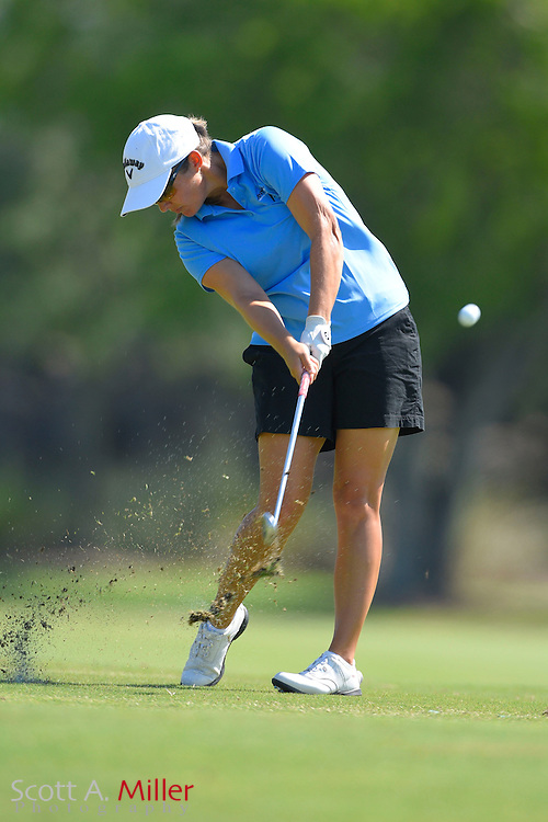 Sara-Maude Juneau during the final round of the Chico's Patty Berg Memorial on April 19, 2015 in Fort Myers, Florida. The tournament feature golfers from both the Symetra and Legends Tours.<br /> <br /> &copy;2015 Scott A. Miller
