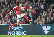FOOTBALL: Jens Stryger Larsen  (Denmark) controls the ball during the World Cup 2018 UEFA Play-off match, first leg, between Denmark and the Republic of Ireland at Parken Stadium on November 11, 2017 in Copenhagen, Denmark. Photo by: Claus Birch / ClausBirch.dk.