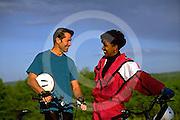 Outdoor recreation, Biking in PA Young Adult Female African American Biker, York Co., PA, Park, Mixed Race Biking,