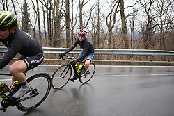 Cecilie Uttrup Ludwig (DEN) of Cervélo-Bigla Cycling Team leans into a corner during the Trofeo Alfredo Binda - a 131,1 km road race, between Taino and Cittiglio on March 18, 2018, in Varese, Italy. (Photo by Balint Hamvas/Velofocus.com)