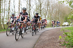 Floortje Mackaaij (NED) of Team Sunweb rides mid-pack in the fourth lap of Stage 3 of the Healthy Ageing Tour - a 154.4 km road race, between  Musselkanaal and Stadskanaal on April 7, 2017, in Groeningen, Netherlands.