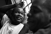 Zanzibar Town, Zanzibar -   2015-03-26  -  Addicts experiencing withdrawal symptoms rest indoors at the Trent Sober House in Zanzibar Town, Zanzibar on March 26, 2015.  Photo by Daniel Hayduk