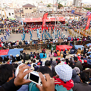 Spectators during Carnival.