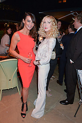 PICTURE SHOWS:-Left to right, LIZZY CUNDY and BASIA BRIGGS.<br /> Tuesday 14th April 2015 saw a host of London influencers and VIP faces gather together to celebrate the launch of The Ivy Chelsea Garden. Live entertainment was provided by jazz-trio The Blind Tigers, whilst guests enjoyed Moët & Chandon Champagne, alongside a series of delicious canapés created by the restaurant's Executive Chef, Sean Burbidge.<br /> The evening showcased The Ivy Chelsea Garden to two hundred VIPs and Chelsea<br /> residents, inviting guests to preview the restaurant and gardens which marry<br /> approachable sophistication and familiar luxury with an underlying feeling of glamour and theatre. The Ivy Chelsea Garden's interiors have been designed by Martin Brudnizki Design Studio, and cleverly combine vintage with luxury, resulting in a space that is both alluring and down-to-earth.