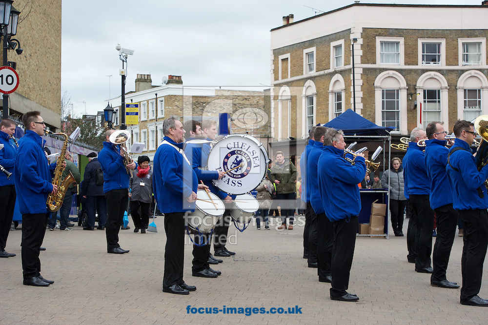 The Chelsea Brass band entertain the fans before the FA Cup match at Stamford Bridge, London<br /> Picture by Alan Stanford/Focus Images Ltd +44 7915 056117<br /> 21/02/2016