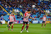 Exeter City Defender Troy Brown clears the cross during the Sky Bet League 2 match between Carlisle United and Exeter City at Brunton Park, Carlisle, England on 17 October 2015. Photo by Craig McAllister.