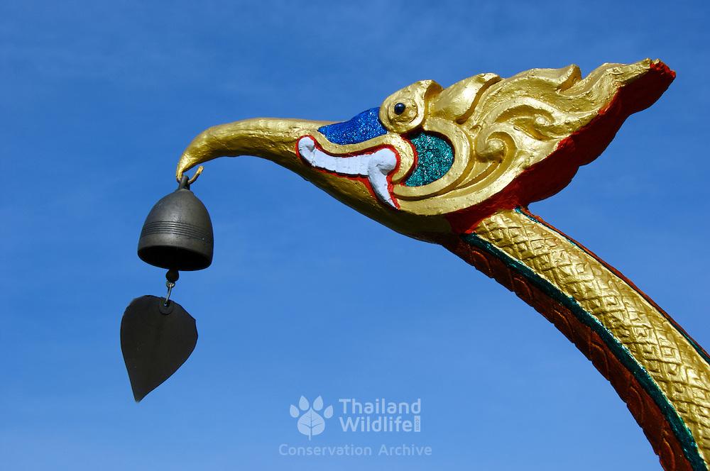 Temple detail at Wat Ko Proet, Laem Sing, Chantaburi, Thailand.