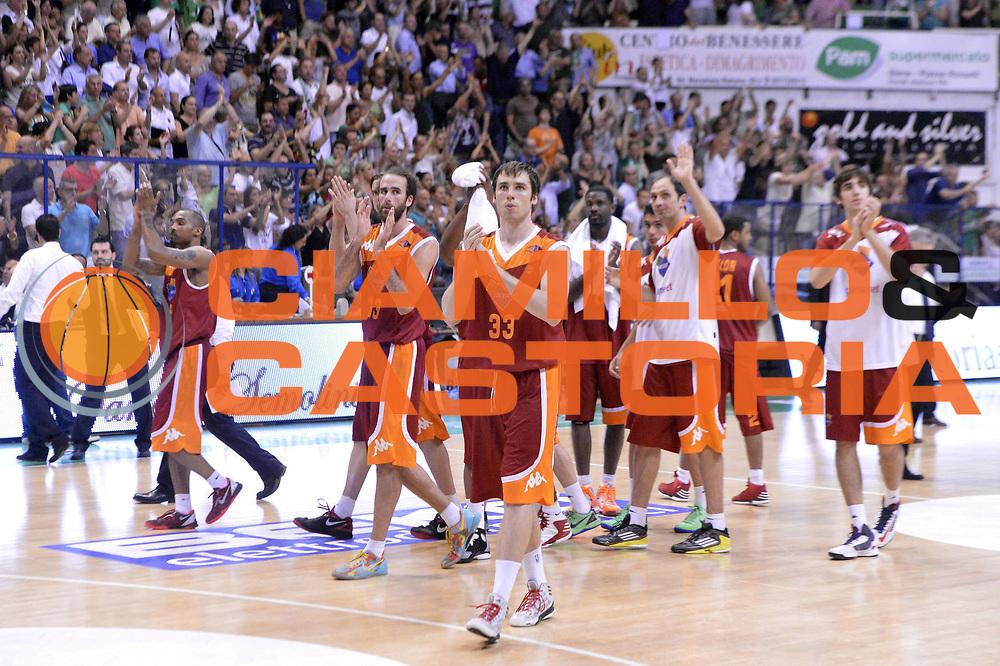 DESCRIZIONE : Roma Lega A 2012-2013 Montepaschi Siena Acea Roma playoff finale gara 4<br /> GIOCATORE : Team <br /> CATEGORIA : Delusione<br /> SQUADRA : Acea Roma<br /> EVENTO : Campionato Lega A 2012-2013 playoff finale gara 4<br /> GARA : Montepaschi Siena Acea Roma<br /> DATA : 17/06/2013<br /> SPORT : Pallacanestro <br /> AUTORE : Agenzia Ciamillo-Castoria/GiulioCiamillo<br /> Galleria : Lega Basket A 2012-2013  <br /> Fotonotizia : Roma Lega A 2012-2013 Montepaschi Siena Acea Roma playoff finale gara 4<br /> Predefinita :