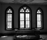 Abandoned catholic school house in downtown Vicksburg, Mississippi.