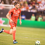 MEADOWLANDS, NEW JERSEY- August 7:  Gareth Bale #11 of Real Madrid in action during the Real Madrid vs AS Roma International Champions Cup match at MetLife Stadium on August 7, 2018 in Meadowlands, New Jersey. (Photo by Tim Clayton/Corbis via Getty Images)