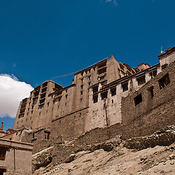 The Leh Palace overlooks the Ladakhi Himalayan town of Leh. The palace was built by King Sengge Namgyal in the 17th century.