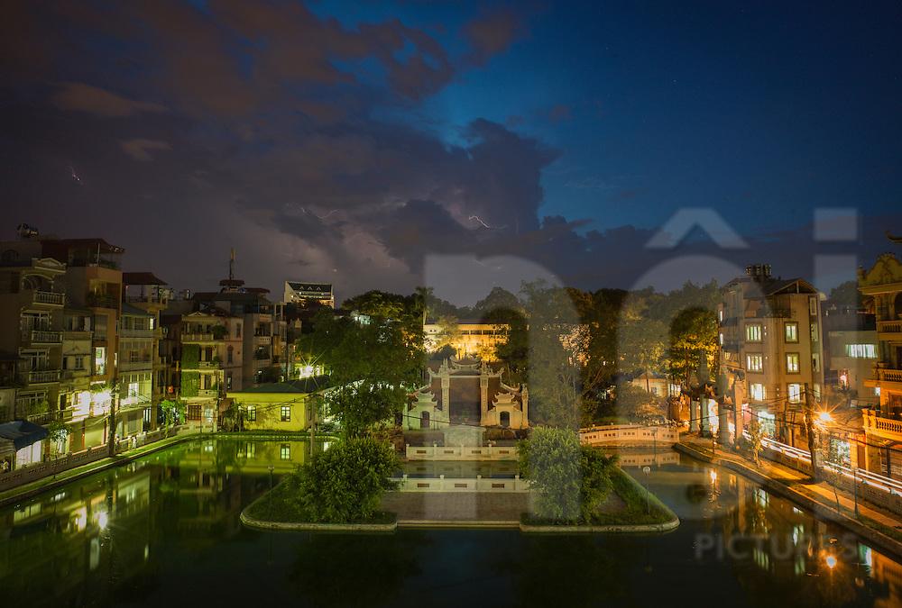 Dramatic sky over Dinh Ngoc Ha, Hanoi, Vietnam, Southeast Asia