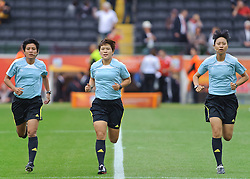 30.06.2011, Commerzbank-Arena, Frankfurt, GER, FIFA Women Worldcup 2011, GRUPPE A, Deutschland (GER) vs. Nigeria (NGR) , im Bild Schiedsrichter Team Widiya Shamsuri, Cha Sung, Kim Kyoung Min  // during the FIFA Women Worldcup 2011, Pool A, Germany vs. Nigeria on 2011/06/30, Commerzbank-Arena, Frankfurt, Germany. EXPA Pictures © 2011, PhotoCredit: EXPA/ nph/  Roth       ****** out of GER / CRO  / BEL ******