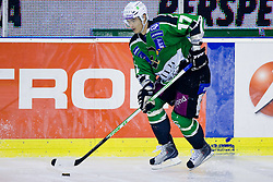 Ziga Pavlin (HDD Tilia Olimpija, #17) during ice-hockey match between HDD Tilia Olimpija and EC KAC in 12th Round of EBEL league, on October 17, 2010 at Hala Tivoli, Ljubljana, Slovenia. (Photo By Matic Klansek Velej / Sportida.com)