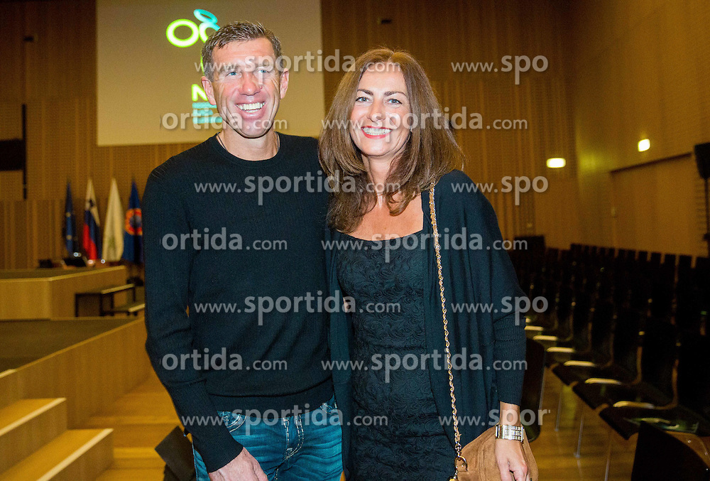 Srecko Katanec with his wife during traditional New Year Gala Night Reception of NZS - Football Association of Slovenia, on December 15, 2014 in Kongresni center, Brdo pri Kranju, Slovenia. Photo by Vid Ponikvar / Sportida