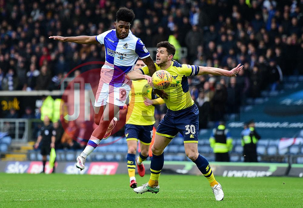 Ellis Harrison of Bristol Rovers Battles for the ball with John Mousinho of Oxford United - Mandatory by-line: Alex James/JMP - 10/02/2018 - FOOTBALL - Kassam Stadium - Oxford, England - Oxford United v Bristol Rovers - Sky Bet League One