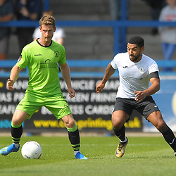 TELFORD COPYRIGHT MIKE SHERIDAN Ellis Deeney of Telford during the National League North fixture between AFC Telford United and Kings Lynn Town at the Bucks Head on Tuesday, August 13, 2019<br /> <br /> Picture credit: Mike Sheridan<br /> <br /> MS201920-009