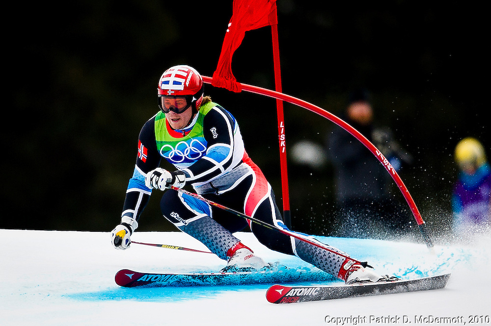 Kjetil Jansrud, NOR, competes in the Men's Giant Slalom during the 2010 Vancouver Winter Olympics in Whistler, British Columbia, Tuesday, Feb. 23, 2010. Jansrud finished in second place earning him the silver medal.