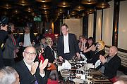 JOHN HURT RECEIVING THE LIBERATUM AWARD, Liberatum Cultural Honour  for John Hurt, CBE in association with artist Svetlana K-Lié.  Spice Market, W London - Leicester Square