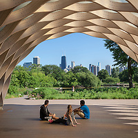 Lincoln Park Zoo South Pond Pavillion by Studio Gang Architects, Julie Gang, Chicago.  Studio Gang, with principal Julie gang is a leading Chicago Architect and the first female architect to design a major high-rise building, Aqua, located in downtown Chicago.