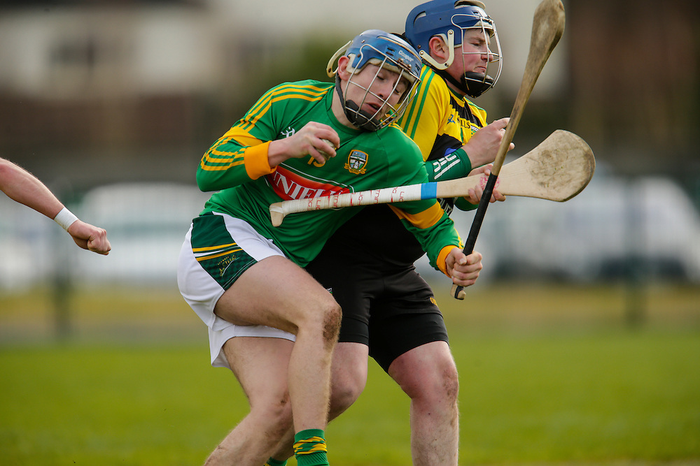 NHL Division 2B at Trim, 6th March 2016<br /> Meath vs Donegal<br /> Stephen Morris (Meath) and Paul Burns (Donegal)<br /> Photo: David Mullen /www.cyberimages.net / 2016