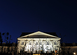 THEMENBILD - Missbrauchsvorwuerfe gegen ehemalgie Erzieher des aufgelassenen Kinderheims Wilhelminenberg. Die Anschuldigungen reichen von Demuetigungen, Missbrauch und Gewalt bis zu Massenvergewaltigungen. Ausserdem vermutet man jetzt auch Todesfaelle. Die Vorfaelle ereigneten sich in den 1970er Jahren. Das Foto wurde am Abend des 18. Oktober 2011 aufgenommen, im Bild Schloss Wilhelminenberg zur blauen Stunde mit hohem Gras im Vordergrund // suspicion of malpractice again child care worker in former children's home wilhelminenberg. The alligations range from indignities, abuse, violence to mass rape. Beside, there are guesswork about deaths now. The incidents happened in the 70s. The Photo was taken on the evening of October the 18th 2011, Wien, AUT, EXPA Pictures © 2011, PhotoCredit: EXPA/ M. Gruber