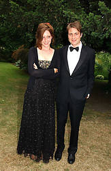 BEN & KATE GOLDSMITH at a fund raising event for The Galapagos Conservation Trust entitled 'Some Enchanted Evening' at the Chelsea Physic Garden Chelsea, London on 17th June 2004.