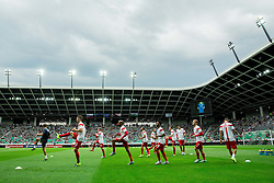 Gary Cahill of England and other players of England at warming up prior to the EURO 2016 Qualifier Group E match between Slovenia and England at SRC Stozice on June 14, 2015 in Ljubljana, Slovenia. Photo by Vid Ponikvar / Sportida