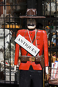 Gastown. Wooden Mounty figure.
