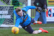 Forest Green Rovers goalkeeper Bradley Collins(1) warming up during the EFL Sky Bet League 2 match between Forest Green Rovers and Cheltenham Town at the New Lawn, Forest Green, United Kingdom on 25 November 2017. Photo by Shane Healey.