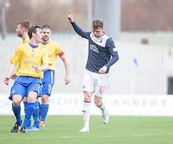 Falkirk's Rory Loy cele scoring their first goal.<br /> Falkirk 5 v 0 Cowdenbeath, Scottish Championship game played today at The Falkirk Stadium.<br /> &copy; Michael Schofield.
