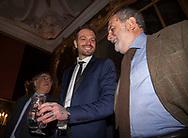 Paul Baccaglini insieme a Leoluca Orlando durante la conferenza stampa tenuta a Villa Niscemi.