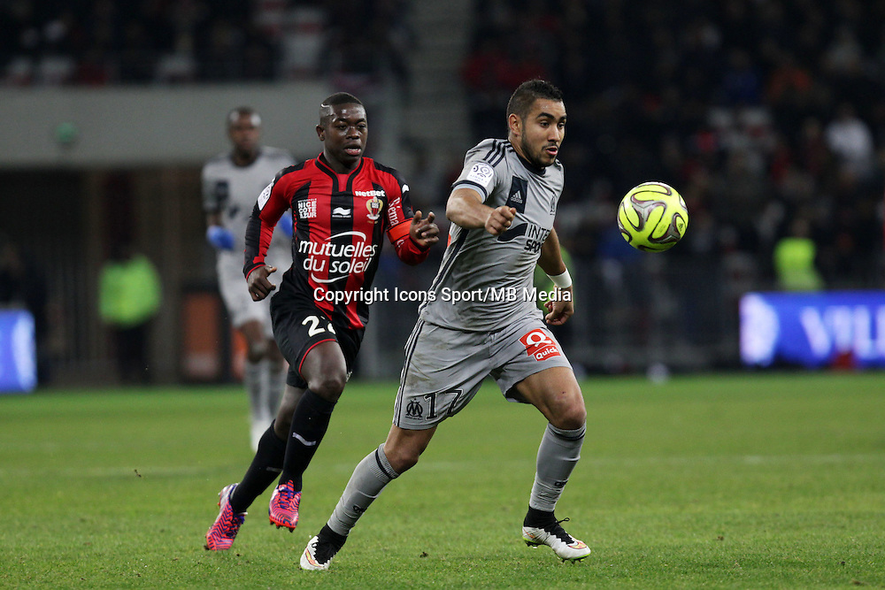 Nampalys MENDY / Dimitri PAYET  - 23.01.2015 - Nice / Marseille - 22eme journee de Ligue 1<br />Photo : Jean Christophe Magnenet / Icon Sport