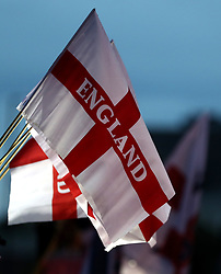 England flags on sale outside the ground