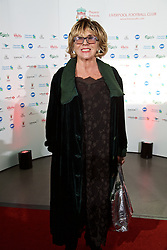 LIVERPOOL, ENGLAND - Tuesday, May 19, 2015: Actress Sue Johnston arrives on the red carpet for the Liverpool FC Players' Awards Dinner 2015 at the Liverpool Arena. (Pic by David Rawcliffe/Propaganda)