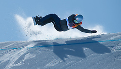 February 12, 2018 - Pyeongchang, South Korea - MIYABI ONITSUKA of Japan crashes on the middle jump during the Womens Snowboard Slopestyle finals at Phoenix Snow Park at the Pyeongchang Winter Olympic Games.  Photo by Mark Reis, ZUMA Press/The Gazette (Credit Image: © Mark Reis via ZUMA Wire)