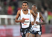 Hagos Gebrhiwet (ETH) places seocnd in the 10,000m in 27:01.02 during the Bauhaus-Galan in a IAAF Diamond League meet at Stockholm Stadium in Stockholm, Sweden on Thursday, May 30, 2019. (Jiro Mochizuki/Image of Sport)