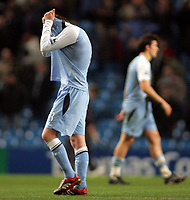 Photo: Paul Thomas.<br /> Manchester City v Chelsea. The Barclays Premiership. 14/03/2007.<br /> <br /> Dejected City players Michael Ball (L) and Joey Barton.
