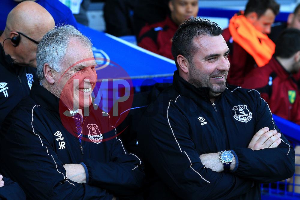 Everton Interim Manager's Joe Royle and David Unsworth - Mandatory byline: Matt McNulty/JMP - 15/05/2016 - FOOTBALL - Goodison Park - Liverpool, England - Everton v Norwich City - Barclays Premier League