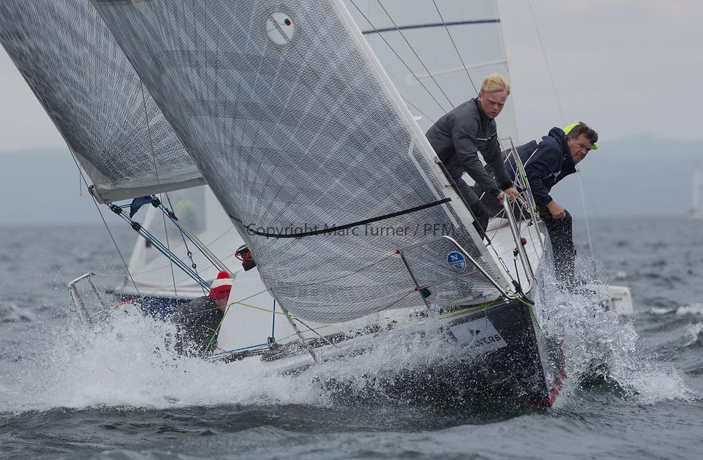 Silvers Marine Scottish Series 2017<br /> Tarbert Loch Fyne - Sailing<br /> <br /> IRL8094, Kingone, Patrick Boardman, Rush SC &amp; Howth YC, Half Tonner<br /> <br /> Credit: Marc Turner / CCC