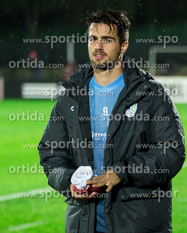 Luka Krajnc of Slovenia prior to the football match between National teams of San Marino and Slovenia in Group E of EURO 2016 Qualifications, on October 12, 2015 in Stadio Olimpico Serravalle, Republic of San Marino. Photo by Vid Ponikvar / Sportida