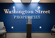The lobby of Washington Street Properties in Watertown, New York on August 11, 2014.