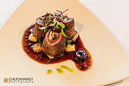 Elk roulade at Cafe Kandahar on Big Mountain in Whitefish, Montana, USA