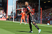 AFC Bournemouth's Callum Wilson during the Barclays Premier League match between Bournemouth and Aston Villa at the Goldsands Stadium, Bournemouth, England on 8 August 2015. Photo by Mark Davies.