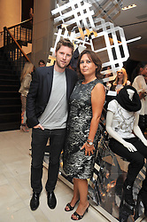 Editor of Vogue ALEXANDRA SHULMAN and CHRISTOPHER BAILEY at a reception hosted by Vogue and Burberry to celebrate the launch of Fashions Night Out - held at Burberry, 21-23 Bond Street, London on 10th September 2009.