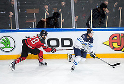 Claude Giroux of Canada vs Valtteri Filppula of Finland during the 2017 IIHF Men's World Championship group B Ice hockey match between National Teams of Canada and Finland, on May 16, 2017 in AccorHotels Arena in Paris, France. Photo by Vid Ponikvar / Sportida